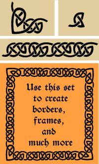 Celtic border stencil and corner set in a unique and original design.