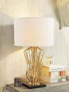 Teresa White Gold - All For Lamp İdeas Decoration Lights For Home, Light Decorations, Home Decor, Luxury Table Lamps, Wall Lights, Ceiling Lights, Contemporary Table Lamps, Gold Table, Luxury Lighting