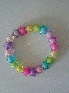 fairy kei kawaii Lolita bracelet crystal star beads on Etsy, £3.00