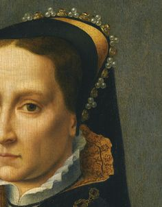 Portrait of Queen Mary I (detail) | 17th century follower of Antonis Mor