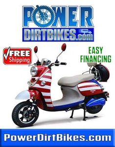 The American Flag Electric Scooter Available Now at Power Dirt Bikes