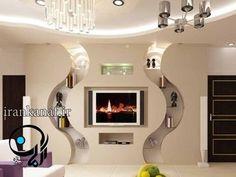 34 Small Space Home Decor To Apply Asap Pooja Room Door Design, Ceiling Design Living Room, False Ceiling Living Room, False Ceiling Design, Wall Unit Designs, Living Room Tv Unit Designs, Tv Wall Design, Tv Wall Decor, Ceiling Decor
