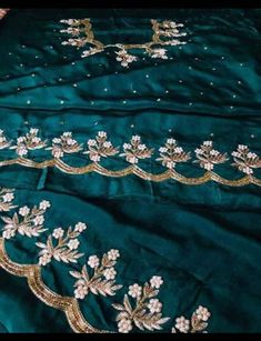 Embroidery Suits Punjabi, Hand Embroidery Dress, Embroidery Suits Design, Embroidery Fashion, Embroidery Designs, Punjabi Suits Designer Boutique, Ethnic Wear Designer, Indian Designer Outfits, Punjabi Suit Neck Designs