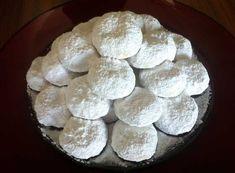 Traditional Kourampiedes (Greek Christmas Butter Cookies) - My Greek Dish Greek Sweets, Greek Desserts, Greek Recipes, Arabic Sweets, Greek Cookies, Honey Cookies, Melomakarona Recipe, Cypriot Food, Greek Christmas