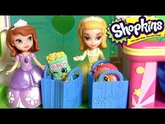 Princess Sofia the First Going Shopping at the Shopkins Supermarket Mart with Peppa Pig Surprise Egg - YouTube