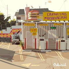 Kevin Dart is an artist working in the animation industry, specializing in design and illustration. Cartoon Background, Animation Background, Impression 3d, Carnitas Michoacan, Creative Illustration, Graphic Illustration, Kevin Dart, Super Nana, Bg Design