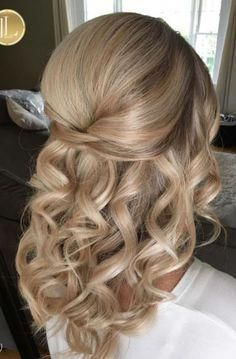 Image Result For Wedding Hairstyles Half Up Half Down Medium Length Hair Shortweddinghairstyles Short Wedding Hair Hair Styles Medium Length Curls