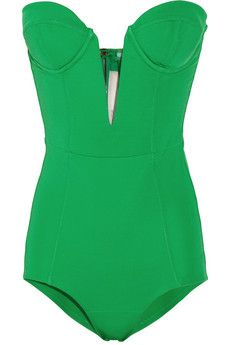GASP! Strapless stretch crepe-jersey bodysuit.