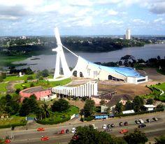 Belle vu de la Cathédrale Saint Paul du plateau  Abidjan - Ivory Coast