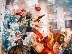 Action Hero Maniac - Original Geek Art