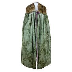 1920's Cut Velvet and Fur Trimmed Opera Cape | From a collection of rare vintage coats and outerwear at http://www.1stdibs.com/fashion/clothing/coats-outerwear/