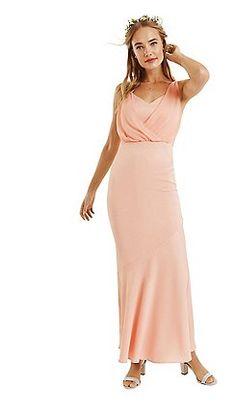 Oasis - Dusky pink 'Emily' slinky bow back maxi dress