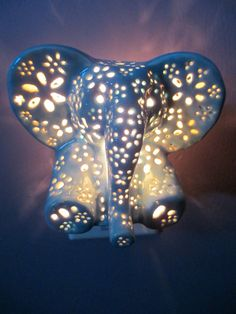 Hey, I found this really awesome Etsy listing at https://www.etsy.com/listing/168167747/ceramic-elephant-night-light