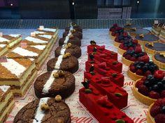 Dessert case at Bottega Louie - Downtown Los Angeles