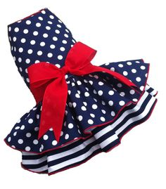 Hey, I found this really awesome Etsy listing at https://www.etsy.com/listing/218345291/retro-nautical-dot-dog-dress