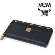 MCM(エムシーエム) 長財布 ブラック レザー ラウンドファスナー ロングウォレット【送料無料】wal-mcm-029