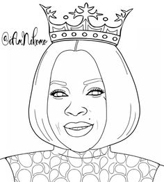 queen mary j blige mjb from the queens of black hollywood coloring