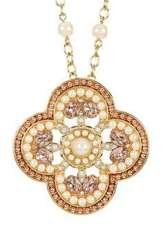 Two-Tone 12K Gold Casablanca Cachet Clover Necklace
