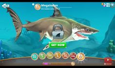 The king of sharks, Megalodon from hungry shark world.