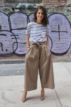 The Man Repeller's Leandra Medine stripes it loud, clear and chic.