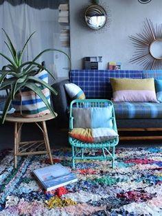 Zoek je een kleed, dat alleen bij jou thuis op de vloer ligt? De Boucherouite vloerkleden uit Marokko zijn stuk voor stuk uniek én een eyecatcher in je interieur.