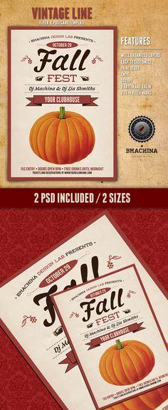Fall Fest Flyer & Poster Templates on Behance