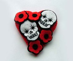 Valentines Day of the Dead Sugar Skull Love by TheDollCityRocker, $15.00