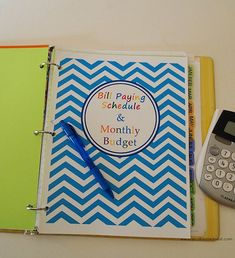 The only way to have money is for it to be organized and know where it's going. Budget Binder - Bill Paying Schedule