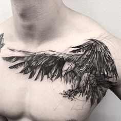 Eagle 🦅 Done at B K.inkstudio sponsored by Killer Silver Ink - Tattoo - Tatoo Ideen Eagle Wing Tattoos, Wolf Tattoos, Animal Tattoos, Leg Tattoos, Body Art Tattoos, Tattoos For Guys, Sleeve Tattoos, Tattoo Eagle, Celtic Tattoos