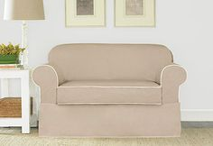 Sure Fit Slipcovers Spectator Canvas Separate Seat Slipcovers - Loveseat