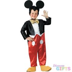 Boy's Costume: Mickey Mouse Deluxe 4 to 6