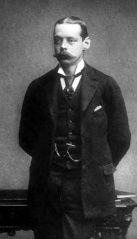 El famoso estadista británico, Lord Randolph Churchill (1849-1895), en 1874 cuando es elegido para el Parlamento como miembro conservador de Woodstock (Oxfordshire). #miercolesretratos #EnciclopediaLibre (Public Domain)