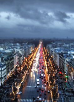 Tilt-shift perspective photography.