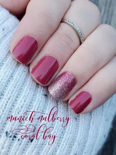 Fancy Nails, Cute Nails, Pretty Nails, Fall Manicure, Manicure Y Pedicure, Nail Polish Strips, Nail Polish Colors, Mulberry Color, Nail Color Combos