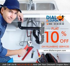 Got A Blocked Water Supply Pipe?  Looking For A Plumber?  If Yes, Then Get The Expert Plumber With The Best Discount .Call Dial A Coupon Now Get Flat 10% Off On Plumbing Service.  For More Discount Deals Please Visit: Www.Dialacoupon.Com