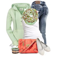 Coral & Mint, created by lagu on Polyvore