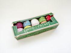 Vintage Cotton Thread Mending Hand - I - Packet Darning Kit Heminway Bartlett USA on Etsy, $5.00