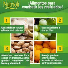 ¡Alimentos para combatir los resfriados!