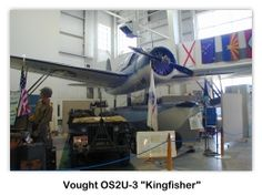 Vought Kingfisher OS2U-3 en el USS Alabama (BB-60) Battleship Park, Mobile, Alabama