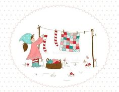 Laundry Day Illustration by alittlesweetness on Etsy, $20.00