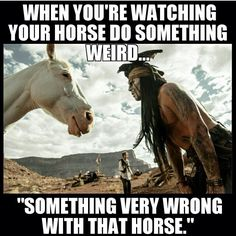 Something very wrong with that horse....