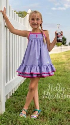 Kids Outfits Girls, Girl Outfits, Madison Clothing, Cute Young Girl, Little Dresses, Clothing Company, Kids Wear, Frocks, Dress Patterns