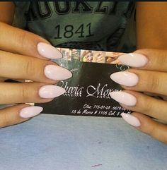 malva pink almond nails image