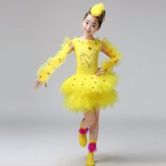 Children's animal clothing chicks also crazy dance costumes children's performance costumes girls bird costumes