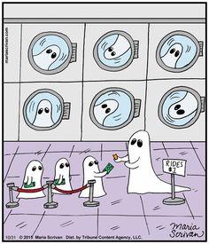 Wishing everyone a safe and fun Halloween! Cartoon Jokes, Funny Cartoons, Funny Comics, Funny Jokes, Hilarious, Feliz Halloween, Halloween Cartoons, Halloween Fun, Halloween Humor