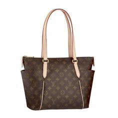 Louis Vuitton handbag in brown or white and grey