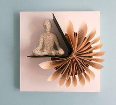 Meditator on fan fold