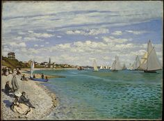 Regatta at Sainte-Adresse Artist: Claude Monet (French, Paris 1840–1926 Giverny) Date: 1867 (The Met)