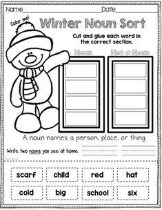 ELA Winter Packet First Grade