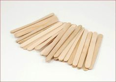 Wooden Craft Stick Paddle Pop Popsicle Ice Cream Sticks Coffee Stirrers for sale online Wooden Craft Sticks, Wood Sticks, Wooden Crafts, Craft Stick Crafts, Popsicle Stick Art, Pop Stick, Free Standing Letters, Popsicles, Crates